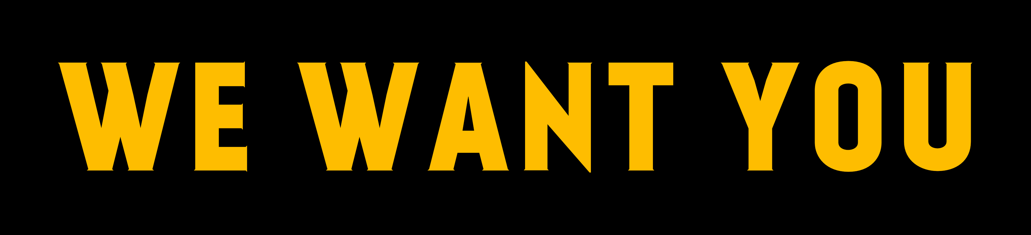 We want you header
